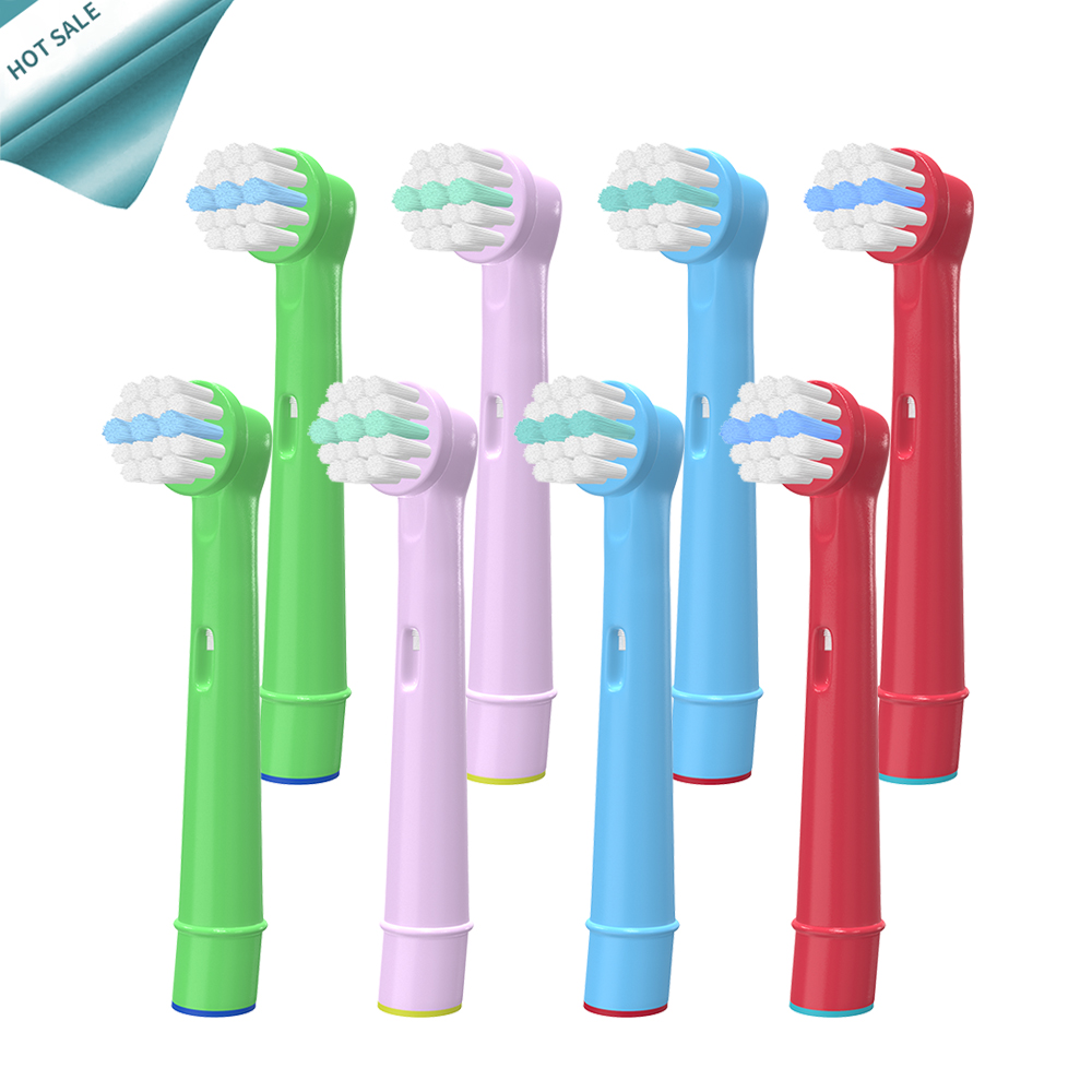 8pcs Replacement Children kids Brush Heads for Oral-B Advance Power 800, 850, 900, 950, 950TX, Car /Mickey Tooth Brush Heads image