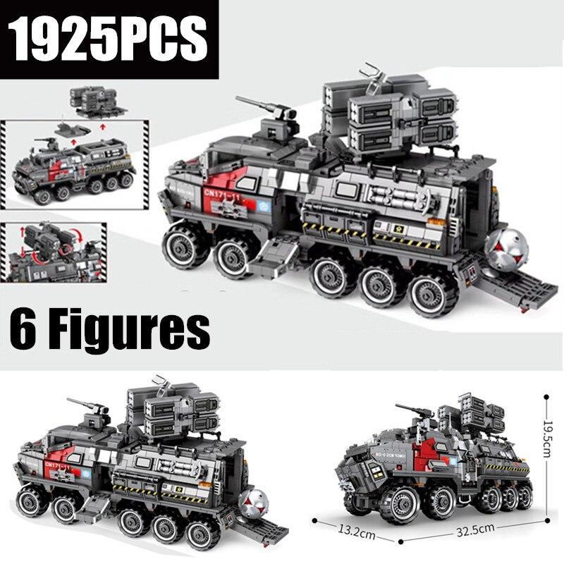 새로운 moc 군사 cn171 부대 캐리어 맞는 legoings 기술 도시 swat 탱크 빌딩 블록 벽돌 모델 완구 아이 선물 생일-에서블록부터 완구 & 취미 의  그룹 1
