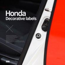4 Uds coche de PVC de coches puerta, capó contra la abrasión pegatinas para Honda CRV Civci 5th ajuste acuerdo de preludio CR-V CR-Z CRX Jazz HRV URV piloto