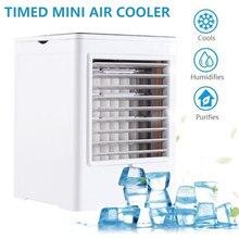 Персональный воздушный охладитель, портативный испарительный кондиционер с 3 скоростях ветра сенсорный экран маленький настольный вентилятор охлаждения