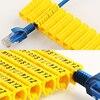 Plastic cable marking clip m-0 m-1 m-2 m-3 alphabit cable marking AZ cable size 1.5 SQMM yellow cable insulation cable marking 2