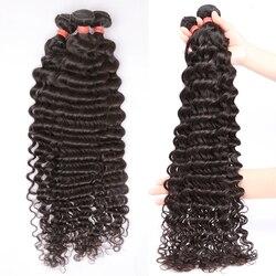 28 30 32 40 Polegada pacotes de onda profunda solta 100% extensões do cabelo humano 3 4 pacotes ofertas onda de água do cabelo brasileiro pacotes remy