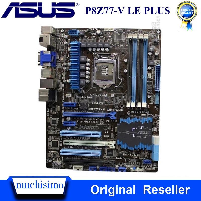 Asus P8Z77-V LE PLUS Motehrbaord Intel Z77 LGA 1155 Core I7 I5 I3 DDR3 32GB Original Desktop Z77 Mainboard PCI-E 3.0 1155 Used