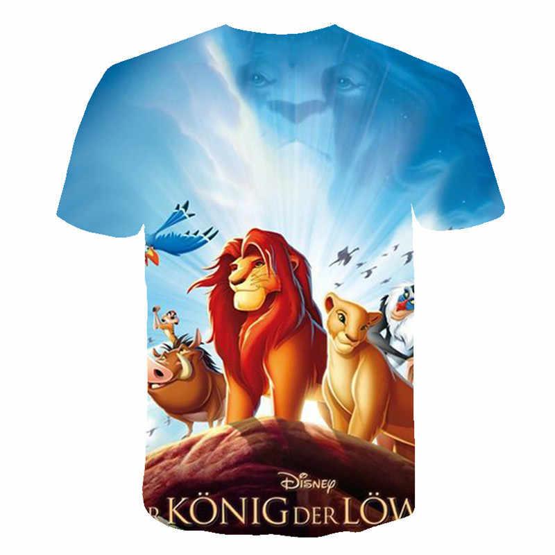2019 NIEUWE Film koninkrijk Koning De Lion King Simba 3D kinderkleding Jongen/meisje kinderen Casual t-shirt korte Mouwen Kleding