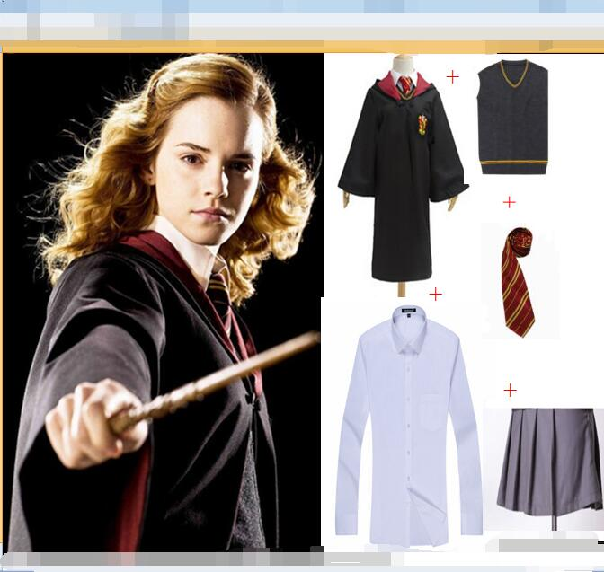 37 Hot Kids Holiday Gift Gryffindor Uniform Hermione Granger Cosplay Harris Costume Kids Adult Version Halloween Party New Gift
