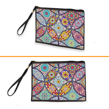 HUACAN 5D DIY Diamond Painting Wallet Women Special Shaped Diamond Embroidery Mandala Kit Handmade