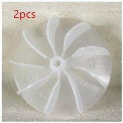 2 pièces de lames de ventilateur en plastique pour sèche-cheveux