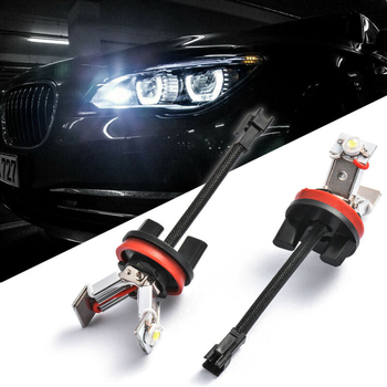 1 Pair H8 Angel Eyes Light Car Accessories LED Ring Marker Bulbs Durable For BMW E60 E61 E71 E70 LCI E90 E91 X5 X6 Z4 E92 X1 image