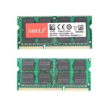 SHELI 8GB 16GB PC3L-12800S/1600Mhz DDR3L CL11 204-PIN 1.35V RAM SODIMM Laptop Memory 1