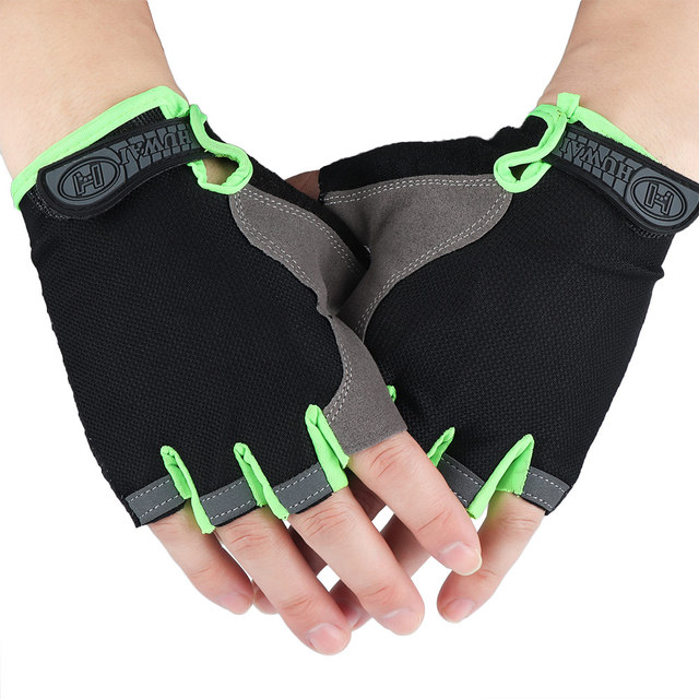 Half Fingerless Gloves Non-slip Sport Mittens Cycling Gloves Bicycle Sport Wrist Wrap Gym Gloves for Fitness Body Building 4