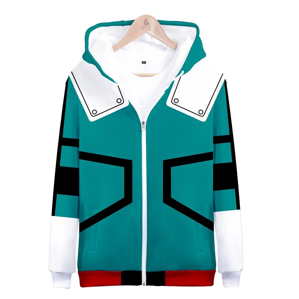 Hot Sale My Hero Academia Hoodies Izuku Midoriya Shouto Todoroki Boku No Hero Academia Cosplay Costume Sweatshirt  Zipper Jacket