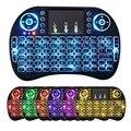 Беспроводная клавиатура i8 с 7-цветной подсветкой  2 4 ГГц  с мультимедийной сенсорной панелью  Воздушная мышь  ПК  ТВ  PS3