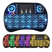7 farbe Hintergrundbeleuchtung i8 Drahtlose Tastatur 2 4 GHz Mit Multimedia Touchpad Fly Air Maus PC TV PS3