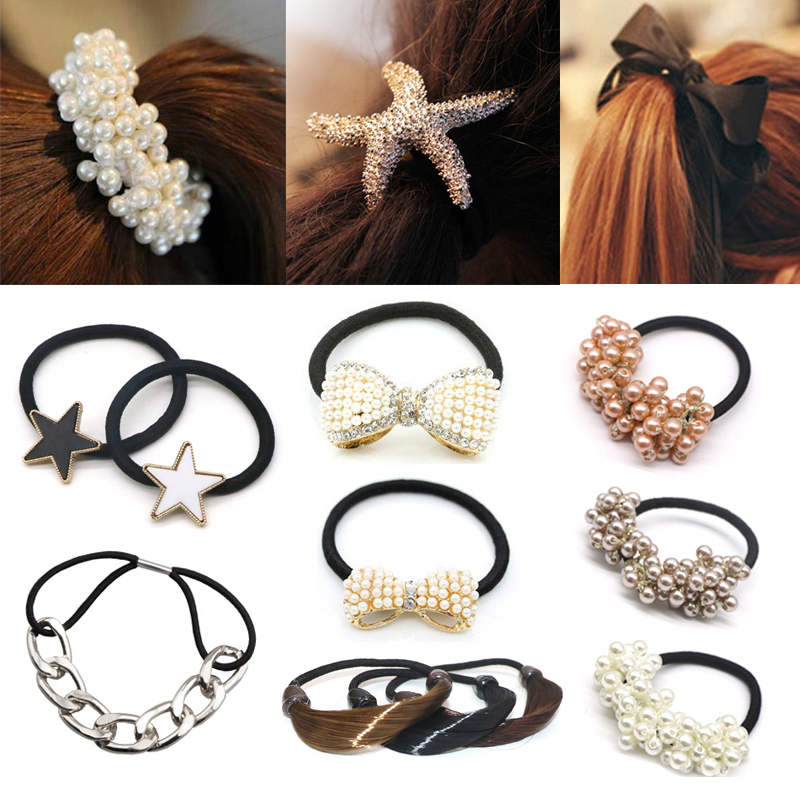 2/3/4pcs 2019 Hair Accessories For Women Rubber Bands Scrunchy Elastic Hair Bands Girls Headband Decorations Ties Gum For Hair