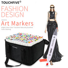TouchFive Markers 30/40/60/80/108/168 Colors Dual Tips Alcohol Graphic Sketching Markers Pen
