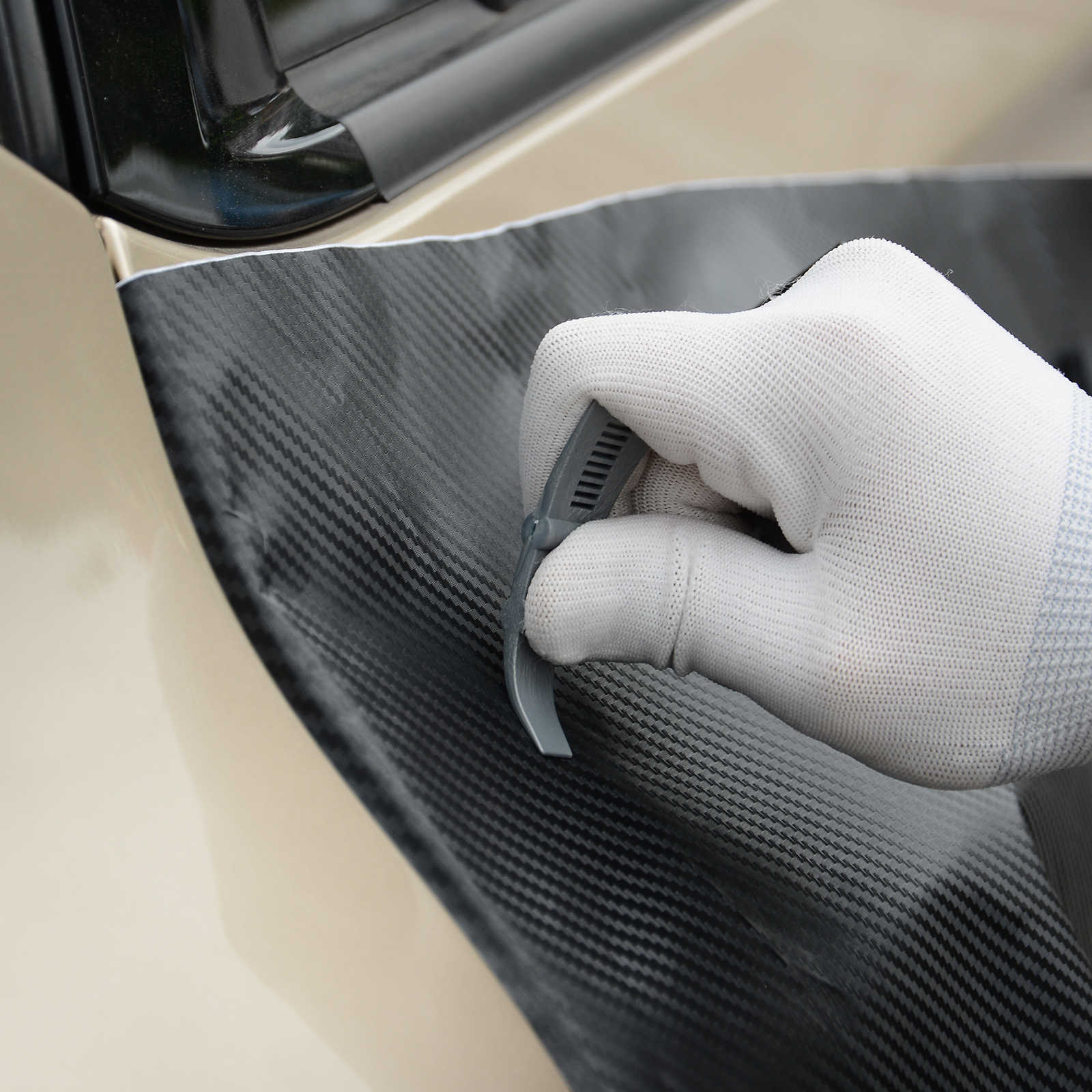 FOSHIO Vinyl Wrap Auto Aufkleber Kleber Entferner Rakel Schaber Carbon Faser Film Auto Auto Verpackung Zubehör Fenster Tönung Werkzeug