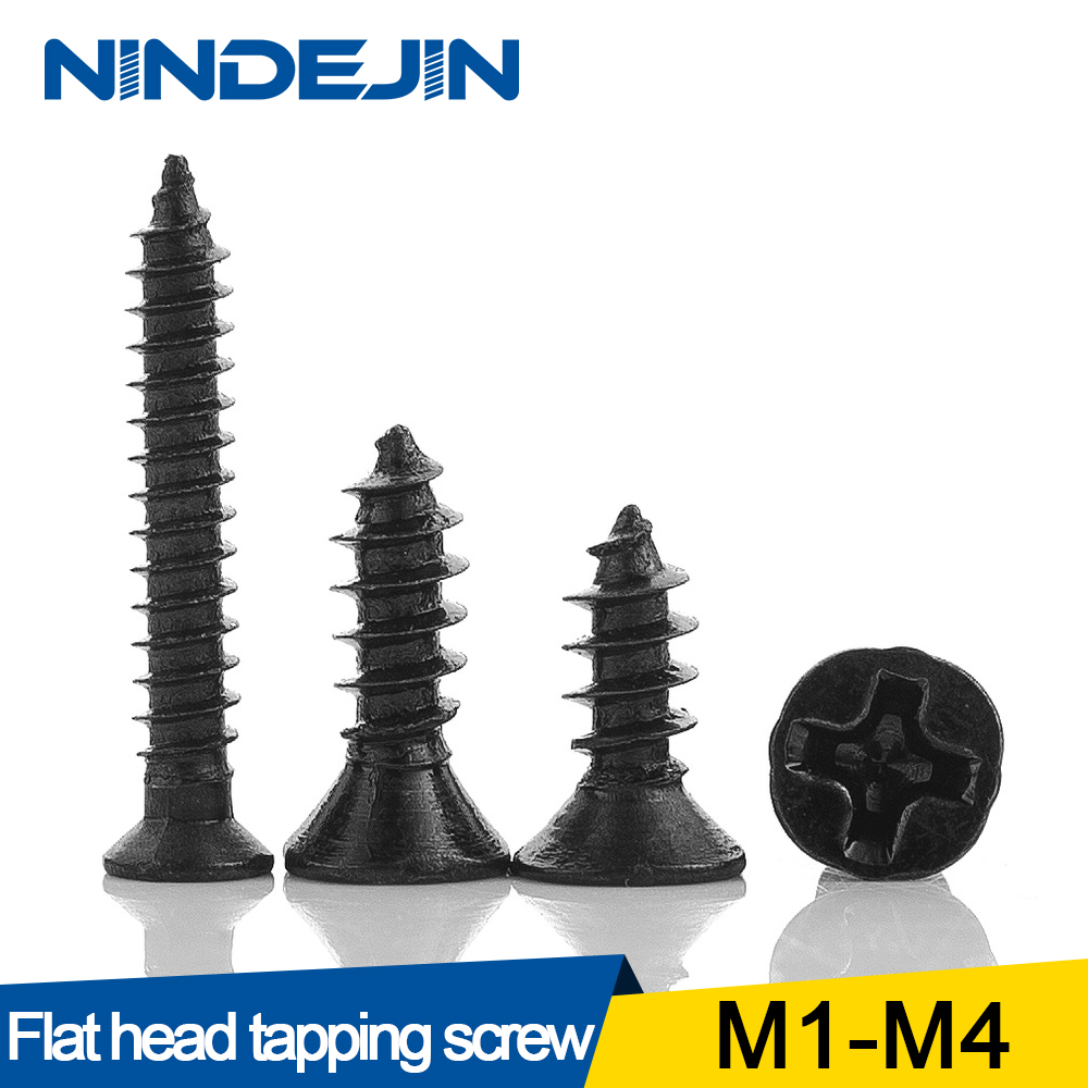 50//100Pcs M2 M3 M4 Phillips Round Head Screw Alloy Self Tapping Cross Bolts