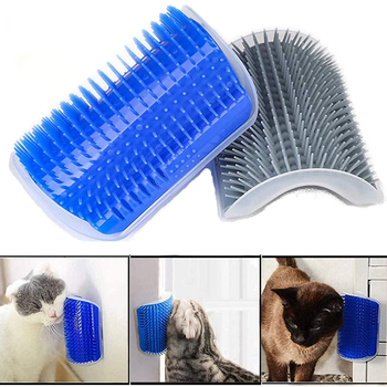 Pet Products For Cats Brush Corner Cat Massage Self Groomer Comb Brush With Catnip Cat rubs the face a tickling comb pet cat wall corner hair massager cat scratching itchy scratching cat cat comb massage corner brush comb