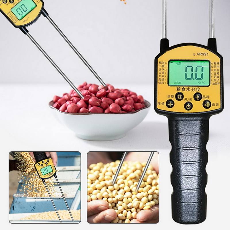 Fibre Moisture Meter Probe Humidity Tester With Extensive Probes Water Content Measure Not Included Battery
