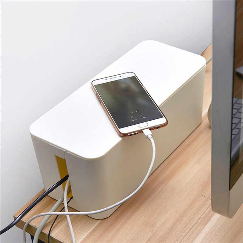 1Pc Della Copertura Smontabile Disegno Comodo Cavo Tidy Storage Box Interruttore di Alimentazione Emissione di Calore Evitare Che La Polvere di Sicurezza Scatola di Immagazzinaggio Filo