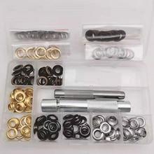100 наборов Металлические Люверсы с втулкой внутренний диаметр 8 мм для пряжки ремня Пряжка для украшения одежды полые заклепки глазные кнопки