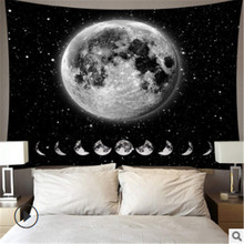 Tapestry Wall Hanging Polyester Lion Moon Pattern Blanket Tapestry Pattern Blanket 95×73 CM For Bedroom Tapestry Home Decor all over pattern blanket