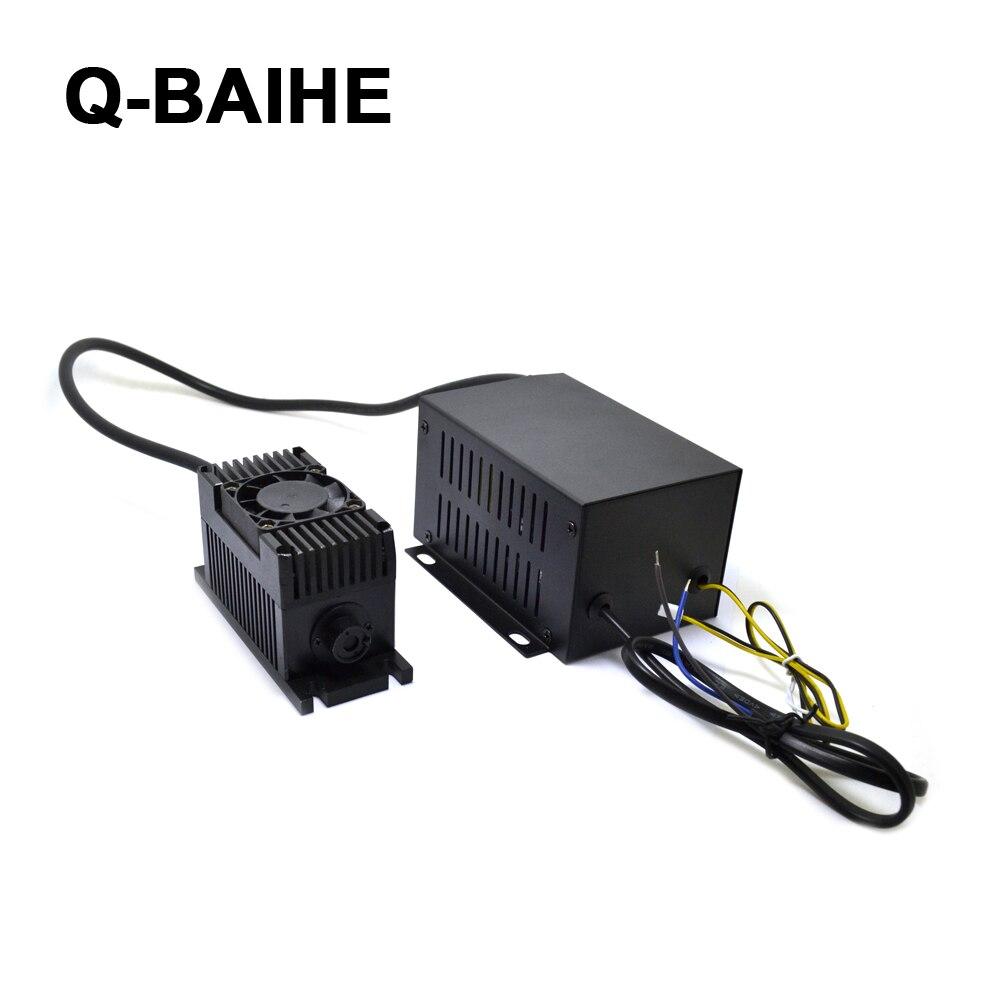 532nm 300mW DPSS Laser Module W/TTL + Fan 110V-220V Voltage DIY LAB Industry