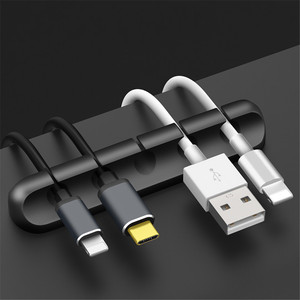 Silicone cable organizer car Wire Storage SB Cable Holder For Mouse Keyboard Earphone Headset Car accessories(China)