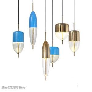 Современные плавающие подвесные светильники в форме рыбки, Скандинавский дизайн, стеклянные подвесные светильники для ресторана, DIY Декор, ...