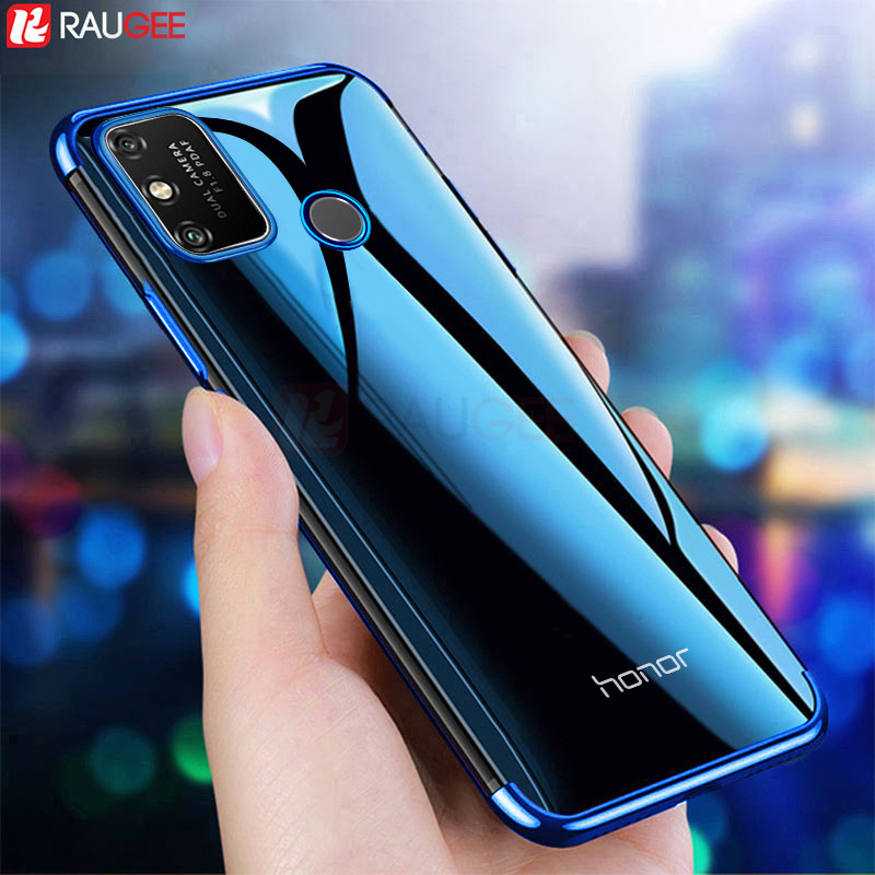 Phone Case For Honor 9A Case Shockproof Luxury Transparent Bumper Back Clear Cover Silicone Case For Huawei Honor 9A 9 A Case