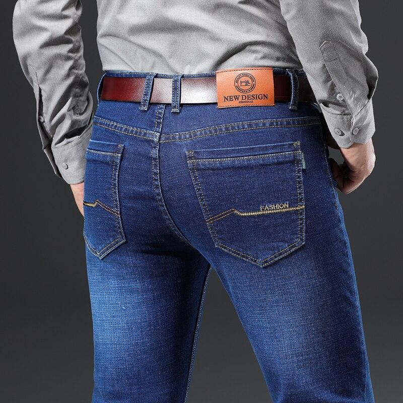 Hecf4bec9b7f047079b99bc01165ceab9r - 2020 New Design Jeans Mens Pants Cotton Deniem Classic Trousers Casual Stretch Slim High Quality Black Blue Multiple Styles