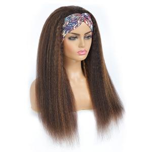 Image 3 - ハイライトカラーヘッドバンドかつら変態ストレート人毛かつらブラジルのremy毛かつら製のかつらjarin髪