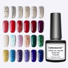 144 Colors Gel Nail Varnish 8ML Glitter Polish Hybrid Dawdler UV Art Lacquer Paint White Pink Blue Red