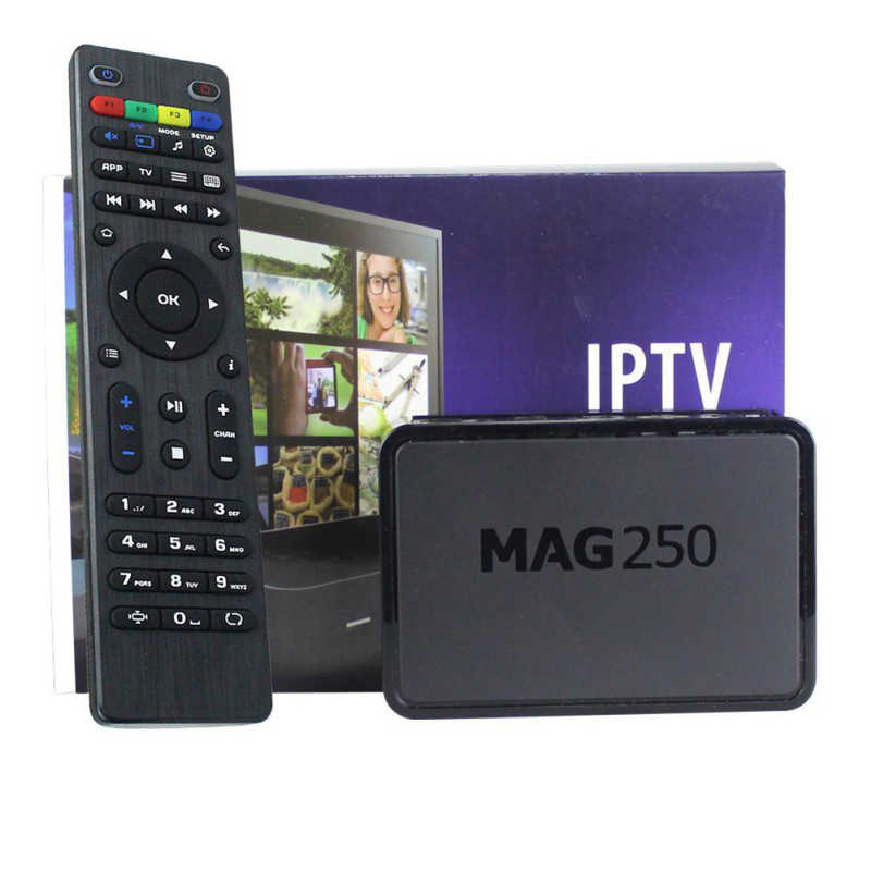 Mag 250 TV Box odtwarzacz multimedialny internetu Set-Top Box z pilotem US ue wtyczka