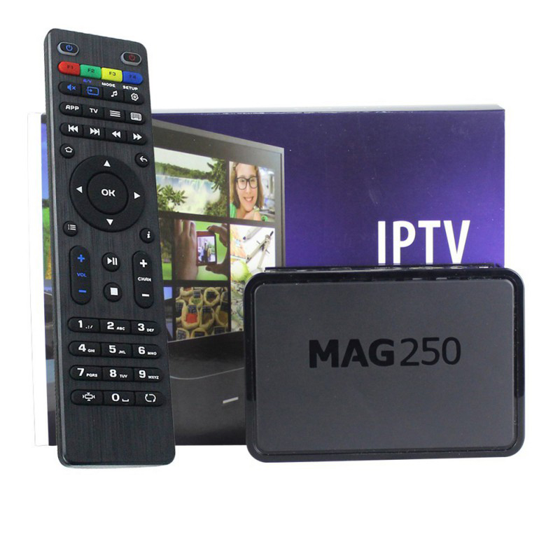 Mag 250 TV Box Multimedia Player Internet Set Top Box With Remote Control US EU Plug