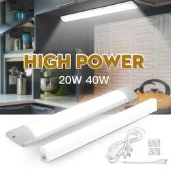Led Verlichting Voor Keuken Onder Kast Licht 10W 20W 220V 110V T5 Led Buis Bar Lamp voor Closet Achtergrondverlichting Home Verlichting Volledige Set