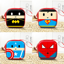 Avengers Coin Purse Headphone Keychain Cute Captain America Batman Superman Mobilizable Key Chain Men Car Women Bag Accessories