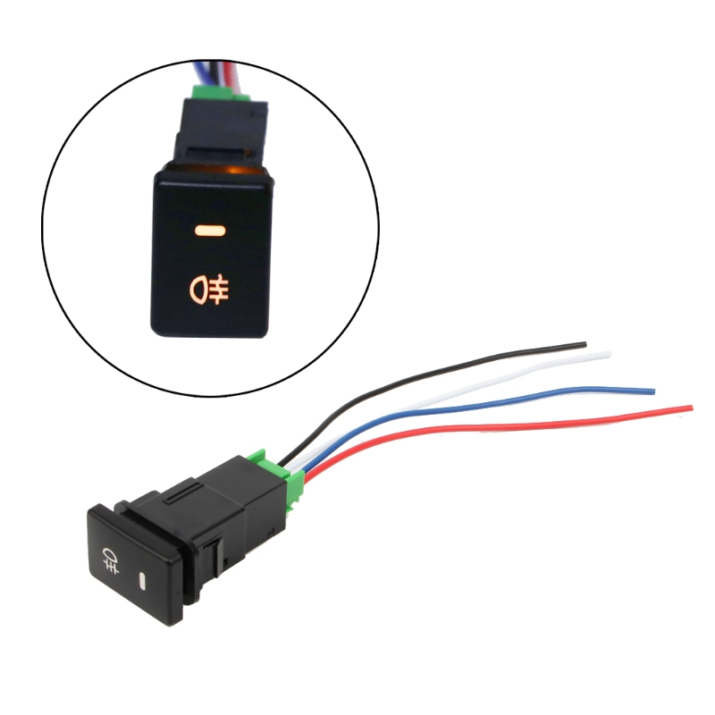 1pcs DC12V Rear Fog light Push Switch 4 Wire Button For Toyota Camry Prius Corolla Car Accessories