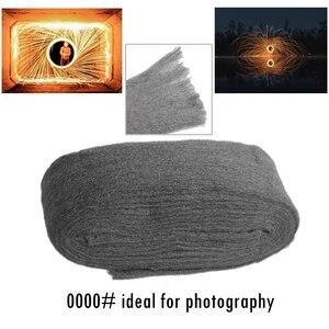 Image 3 - 1 Stuk 180*70*70 Mm 4 5M 100 130G Metal Fibre Staaldraad wol Hand Slijpen Polijsten Cleaning Pad 4 #0000 # Voor Fotografie
