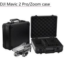 Scatola di alluminio del Sacchetto Di Archiviazione Portatile Impermeabile Valigia EVA Drone Quadcopter Accessori Pezzi di Ricambio per DJI Mavic 2 Pro Cassa Zoom