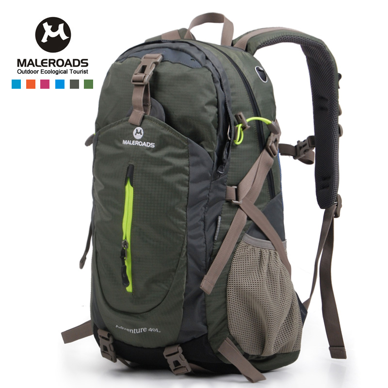 <font><b>Maleroads</b></font> <font><b>40L</b></font> Travel Outdoor Sport Backpack Military Tactical Backpack Climbing Mountaineering Hiking Camping backpack women men image