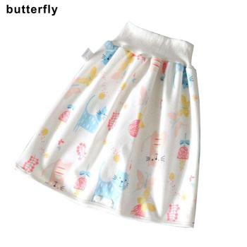 Wygodne spodenki na pieluchy dla dzieci 2 w 1 wodoodporny Super chłonny szczelny zmywalny pielucha dla niemowląt spódnica spodnie xr-hot tanie i dobre opinie Swokii Pasuje prawda na wymiar weź swój normalny rozmiar 130g Conduit Szybkie suche COTTON