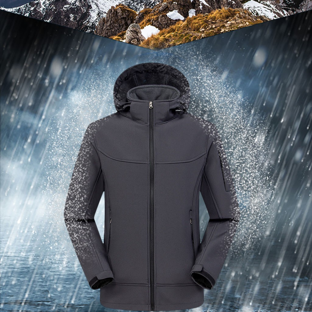 Fashion Hooded Windbreaker Waterproof Jacket Hiking Camping Outdoor Rain Jacket Winter Jacket Men Softshell Coat Corta Vento