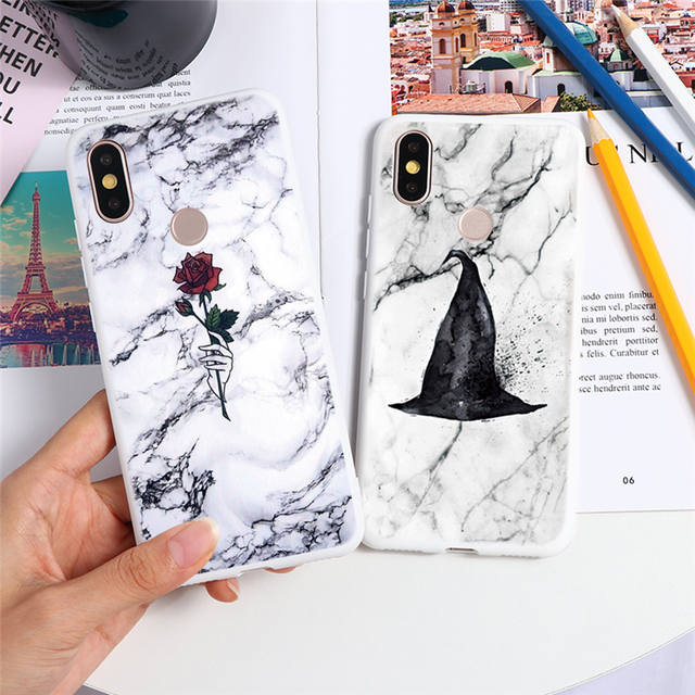 Marble Case For Xiaomi For Redmi Note 8 7 5 6 9 Pro 8T 7A 6A Mi A3 A1 A2 6X 9T 8 9 Lite SE F1 CC9 CC9e Note 10 TPU Cover Fundas 2