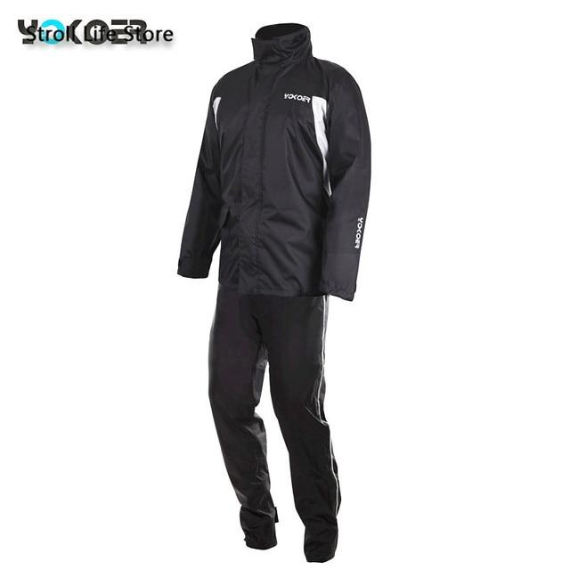 Motorcycle Rain Jacket Raincoat Men Rain Pants Set Waterproof Suit for Fishing Rain Coat Mens Sports Suits Capa De Chuva Gift 4