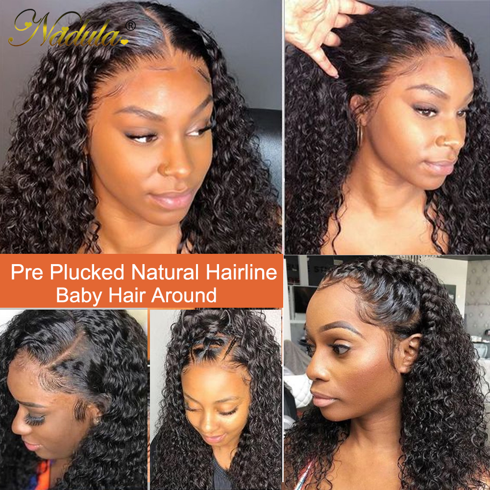 Nadula Curly  Wigs 13x4 Lace Front  Wigs 10-24 Lace Wig  Hair Lace Front Wig Pre plucked with Baby Hair 2