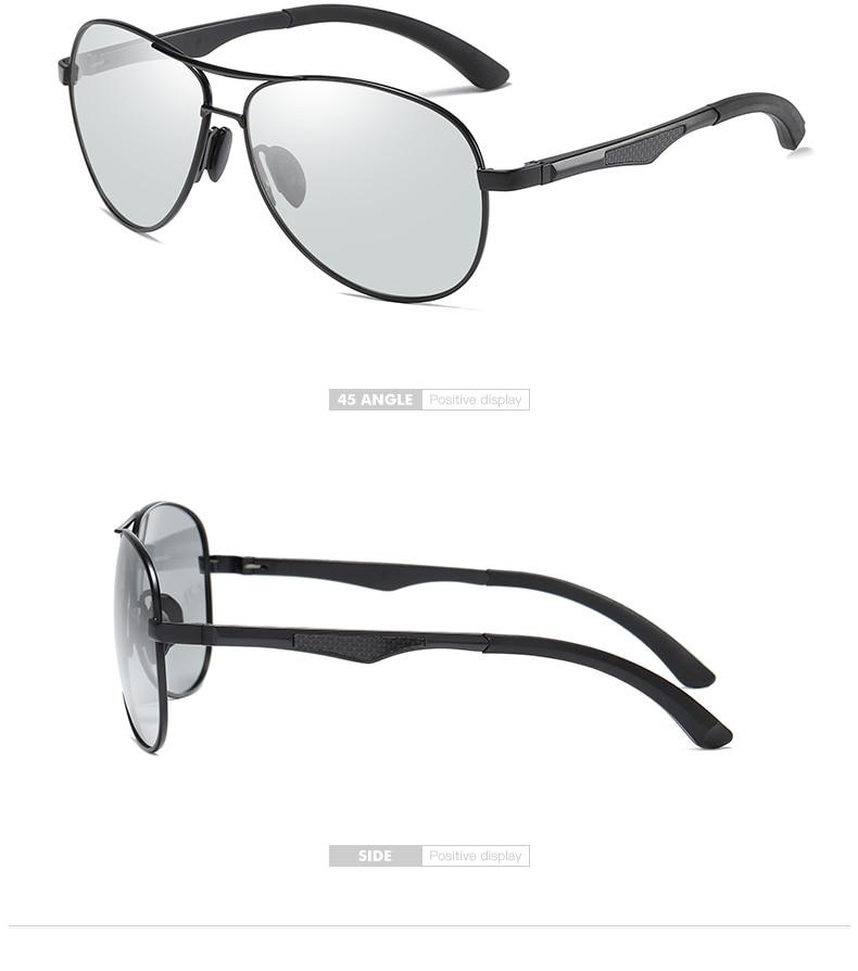 Hecf5fe560805482688ddb739344c672eU 2020 Aviation Driving Photo chromic Sunglasses Men Polarized Eyewear Glasses Women Day Night Vision