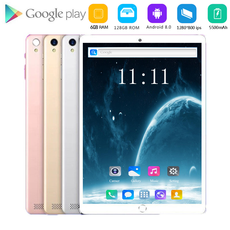 New Original 10 Inch Tablet Pc Octa Core 4G Phone Call Google Market GPS WiFi FM Bluetooth 10.1 Tablets 6G+128G Android 8.0 Tab