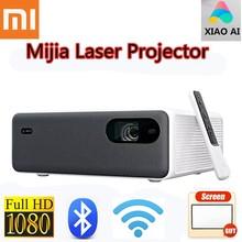 Xiaomi mijia projetor 1080p completo hd laser ai hdr telefone miui tv 2400ansi 2 + 16gb wifi bluetooth 150 Polegada alto-falante de teatro em casa