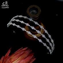 Nova zircônia cúbica weddingtiara cristal bandana de 3 camadas tiara nupcial coroa senhoras e meninas acessórios para o cabelo do baile